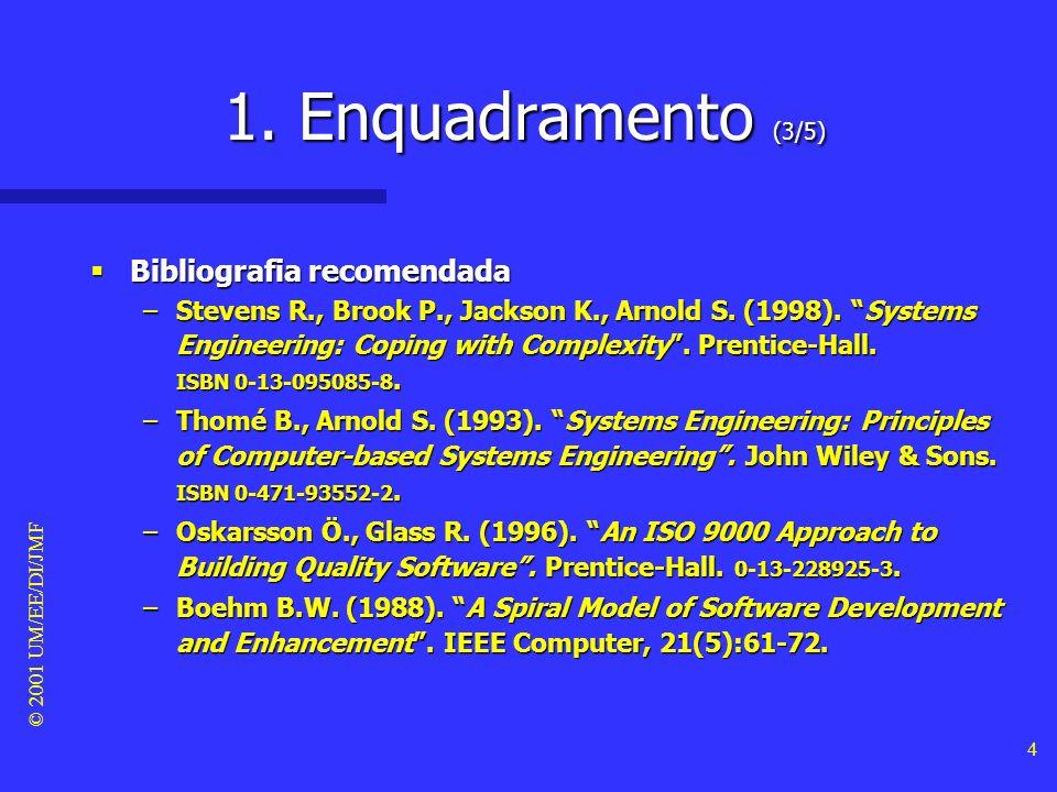 1. Enquadramento (3/5) Bibliografia recomendada