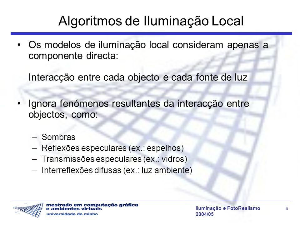Algoritmos de Iluminação Local