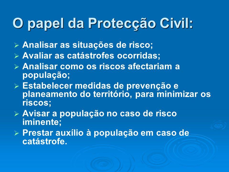 O papel da Protecção Civil: