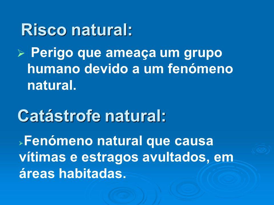 Risco natural: Catástrofe natural:
