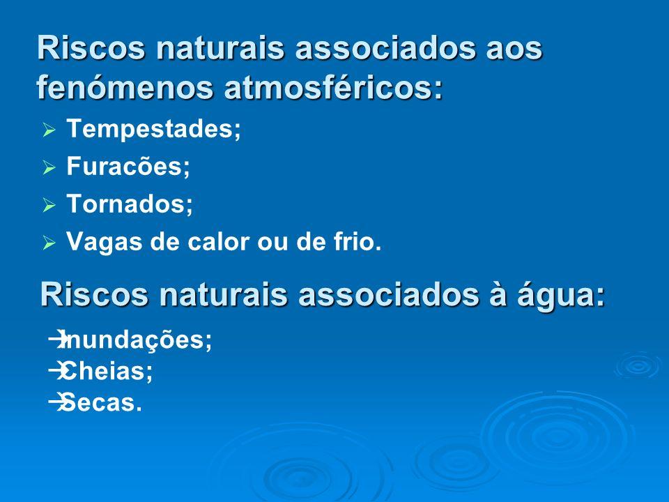 Riscos naturais associados aos fenómenos atmosféricos:
