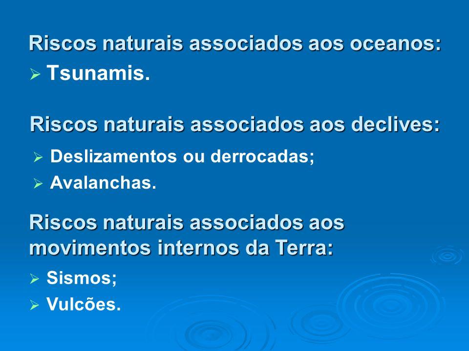 Riscos naturais associados aos oceanos: