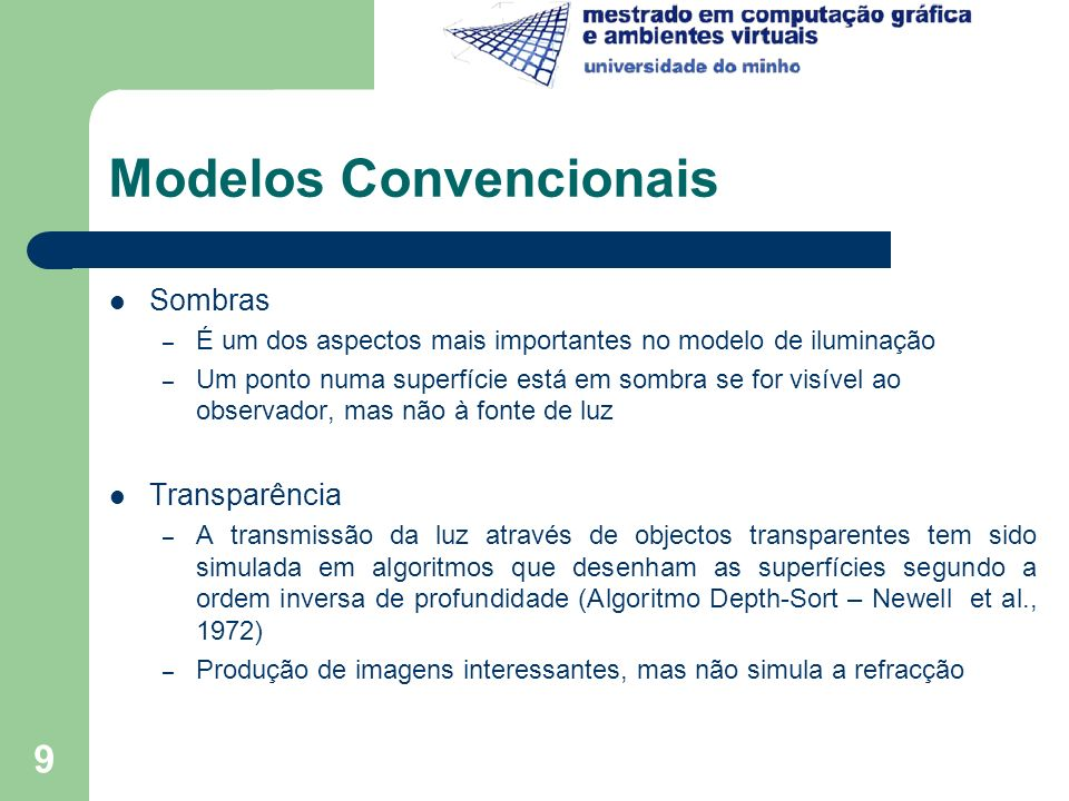Modelos Convencionais