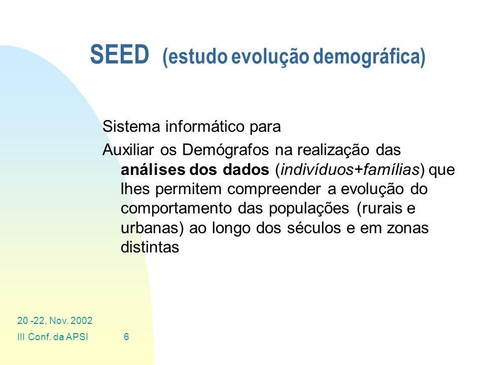 SEED (estudo evolução demográfica)