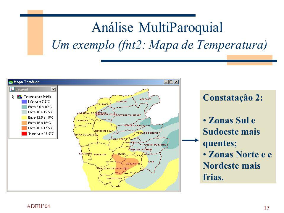 Análise MultiParoquial Um exemplo (fnt2: Mapa de Temperatura)