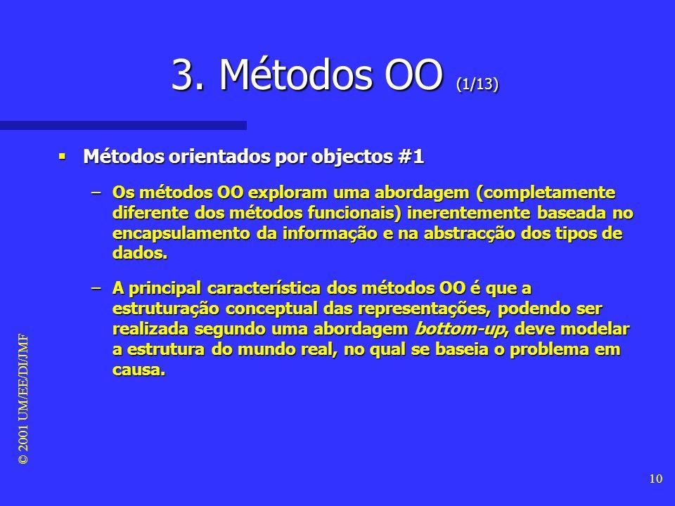 3. Métodos OO (1/13) Métodos orientados por objectos #1