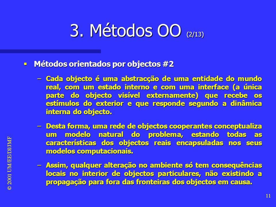 3. Métodos OO (2/13) Métodos orientados por objectos #2
