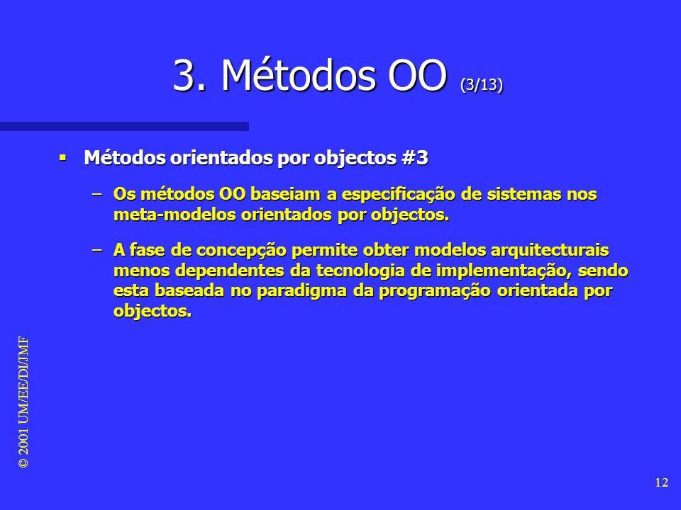 3. Métodos OO (3/13) Métodos orientados por objectos #3