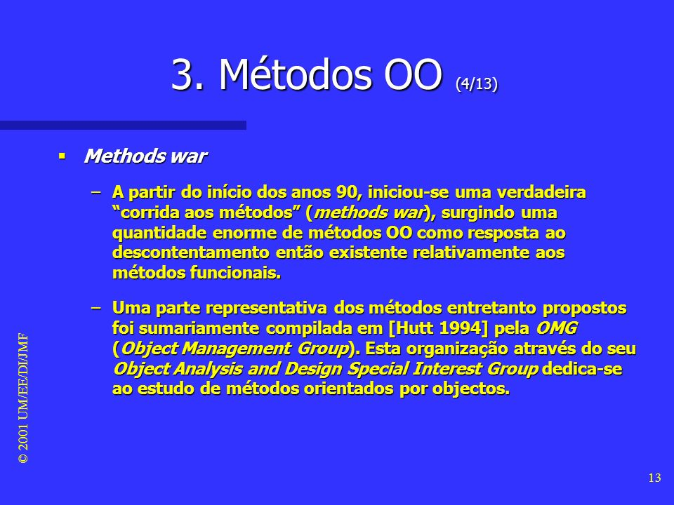3. Métodos OO (4/13) Methods war