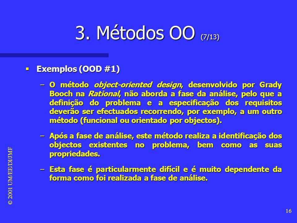 3. Métodos OO (7/13) Exemplos (OOD #1)