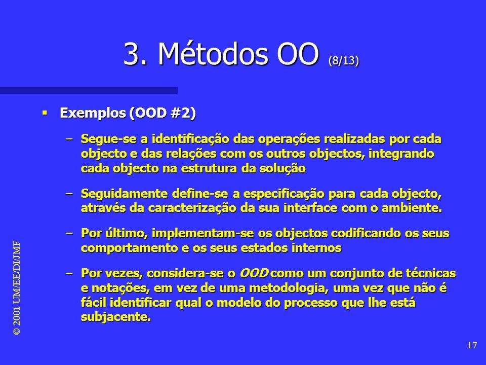 3. Métodos OO (8/13) Exemplos (OOD #2)