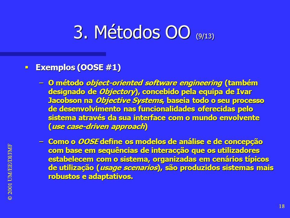 3. Métodos OO (9/13) Exemplos (OOSE #1)