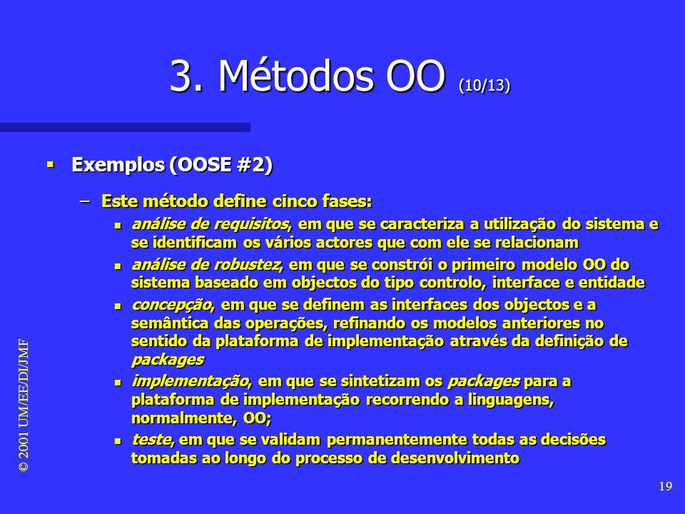 3. Métodos OO (10/13) Exemplos (OOSE #2)