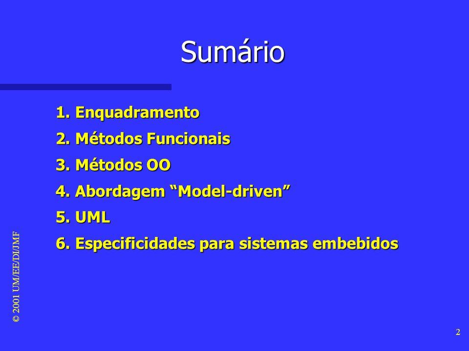 Sumário 1. Enquadramento 2. Métodos Funcionais 3. Métodos OO