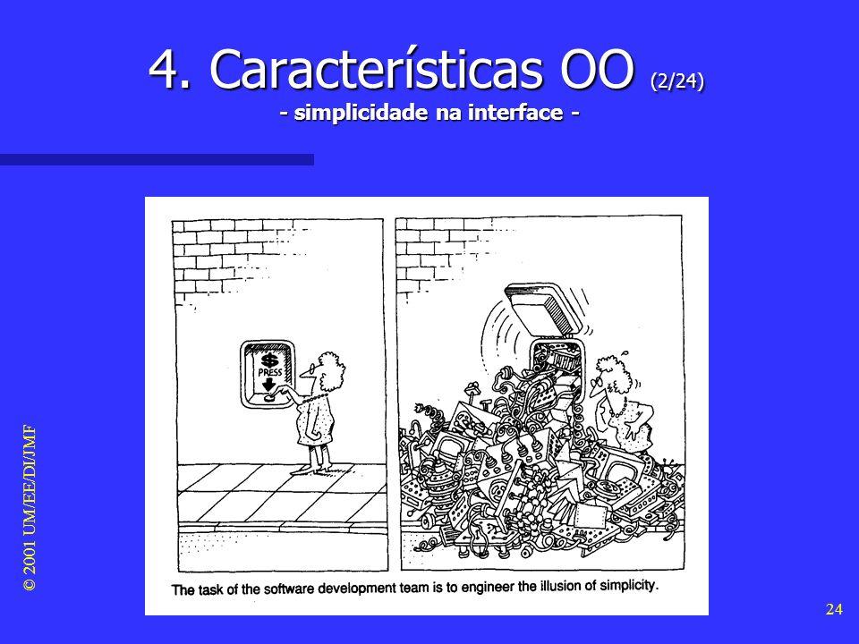 4. Características OO (2/24) - simplicidade na interface -