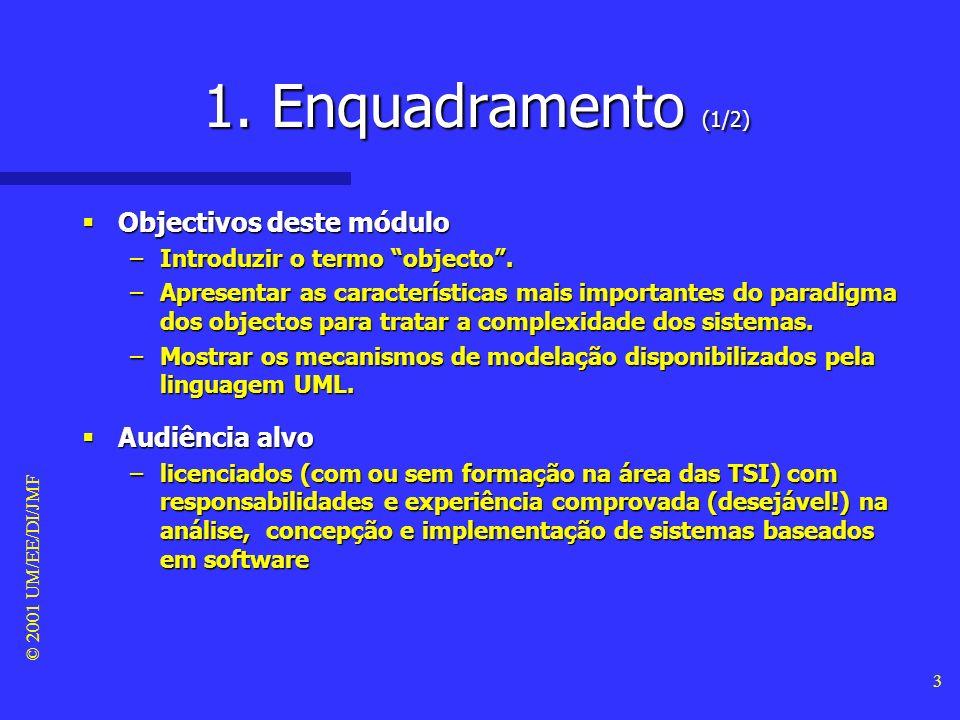 1. Enquadramento (1/2) Objectivos deste módulo Audiência alvo