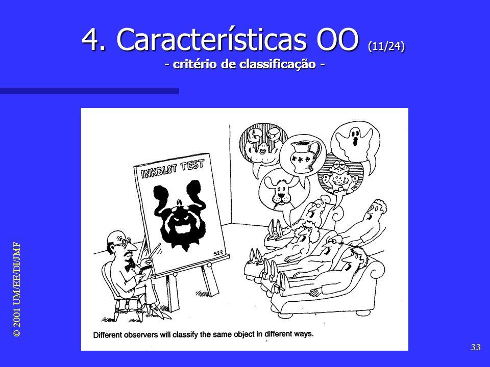 4. Características OO (11/24) - critério de classificação -