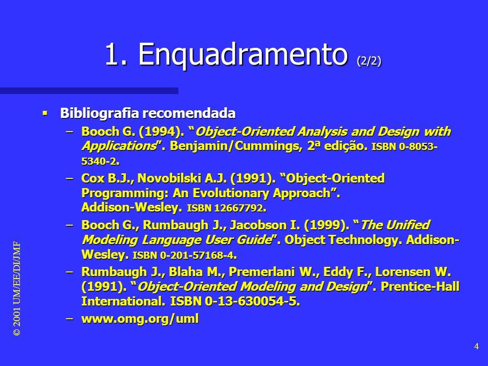 1. Enquadramento (2/2) Bibliografia recomendada