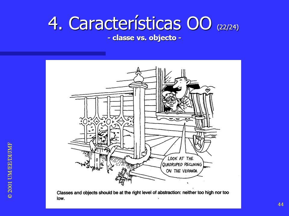 4. Características OO (22/24) - classe vs. objecto -