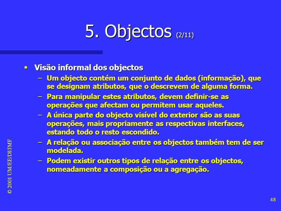 5. Objectos (2/11) Visão informal dos objectos