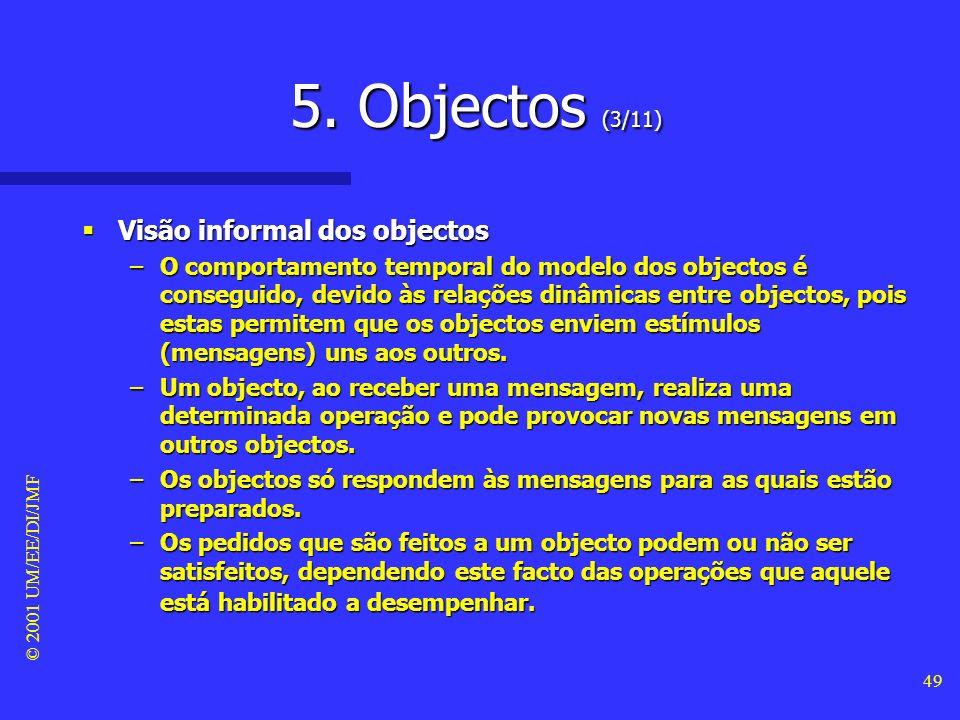 5. Objectos (3/11) Visão informal dos objectos