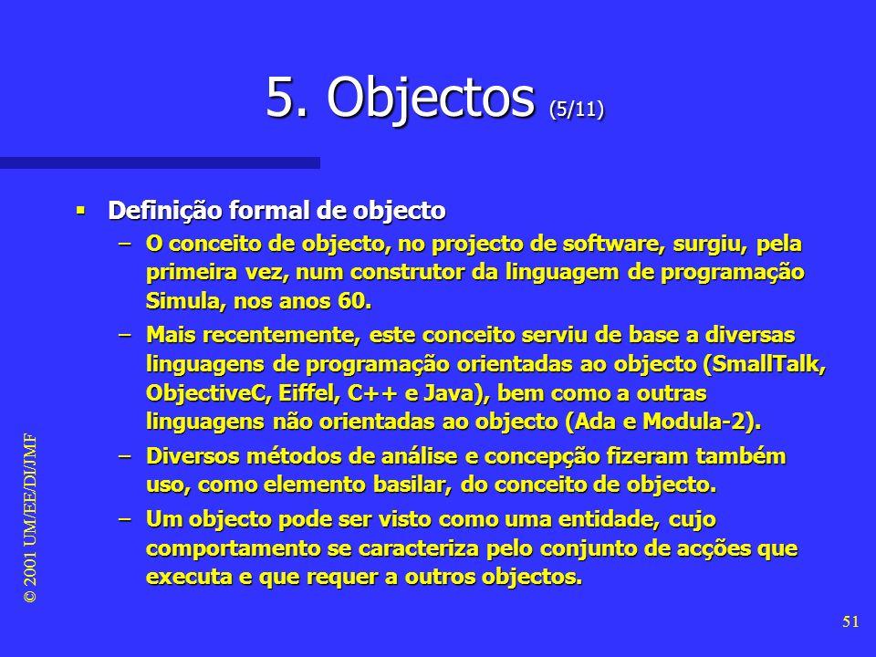 5. Objectos (5/11) Definição formal de objecto