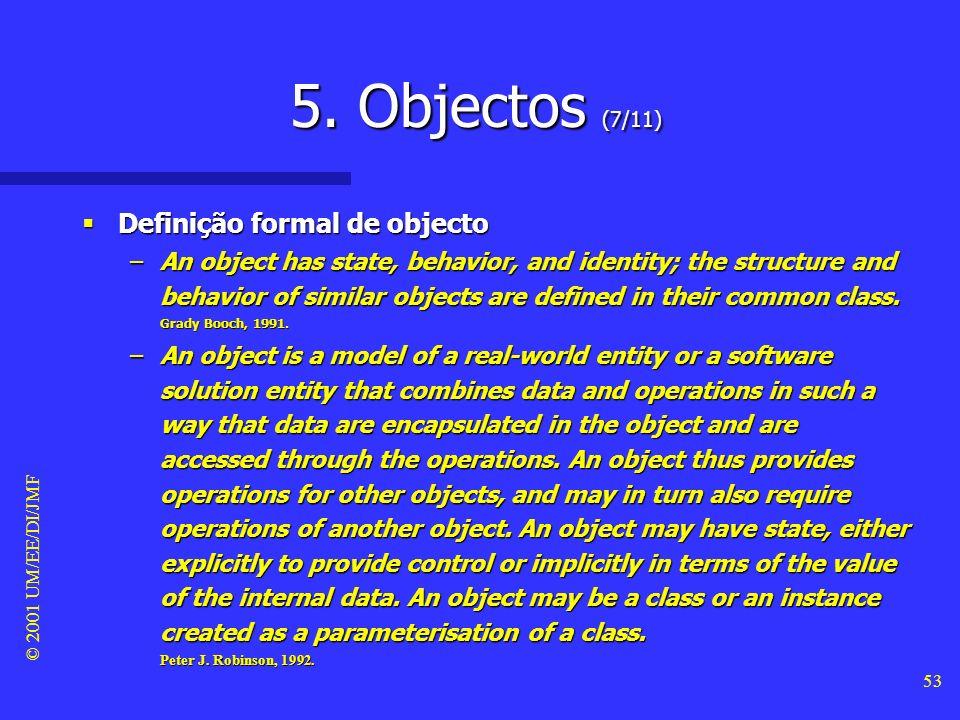 5. Objectos (7/11) Definição formal de objecto