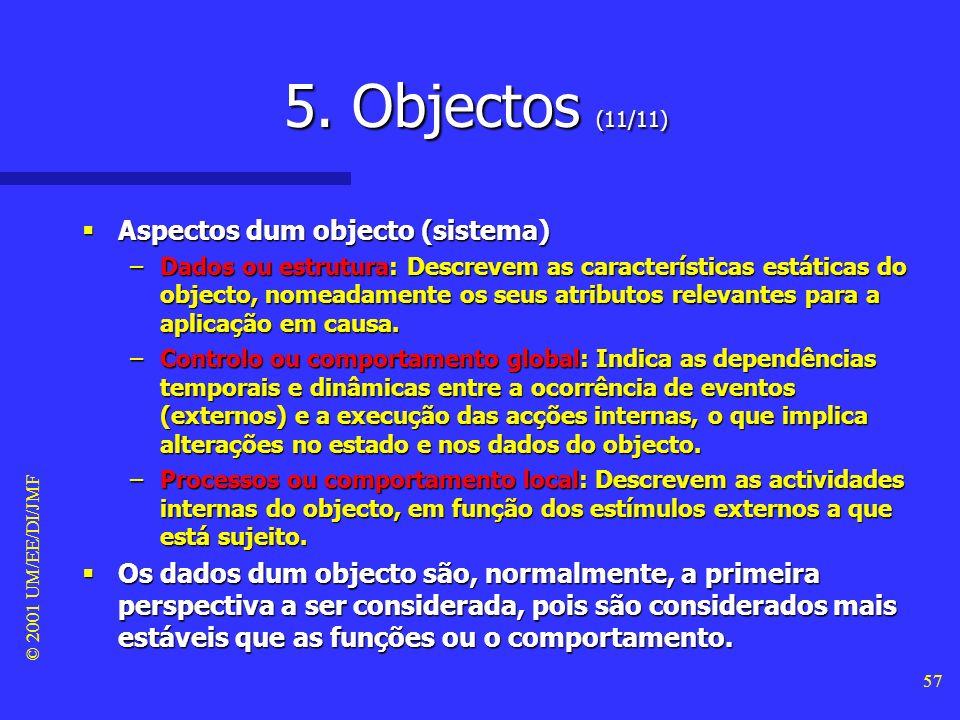 5. Objectos (11/11) Aspectos dum objecto (sistema)