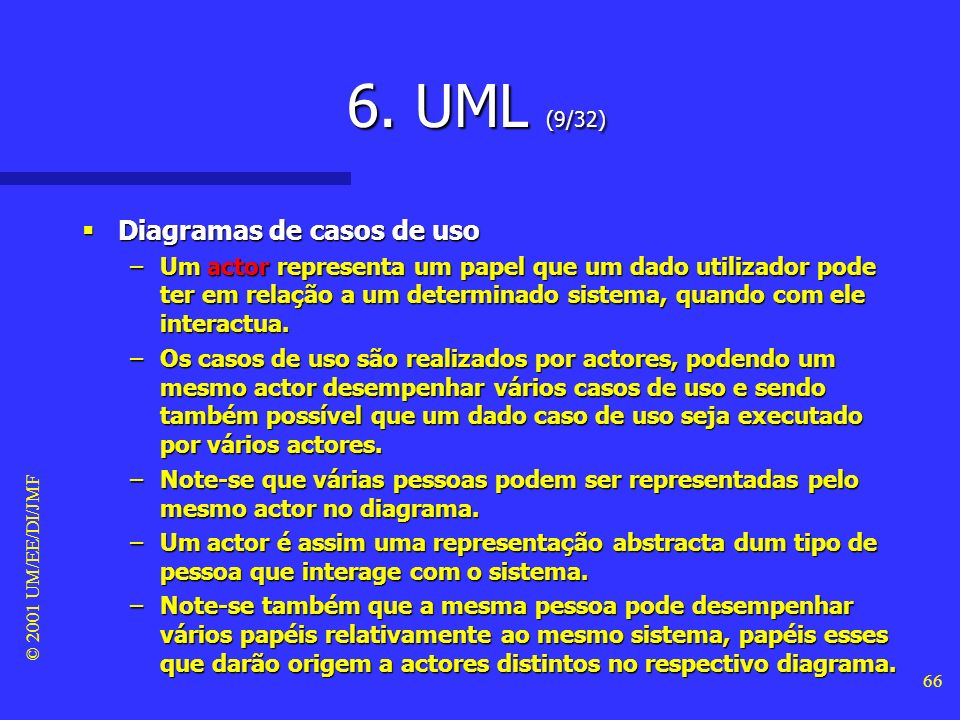 6. UML (9/32) Diagramas de casos de uso