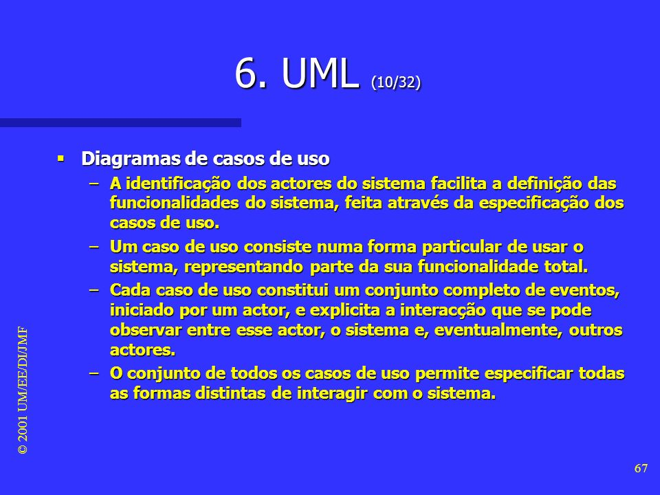 6. UML (10/32) Diagramas de casos de uso