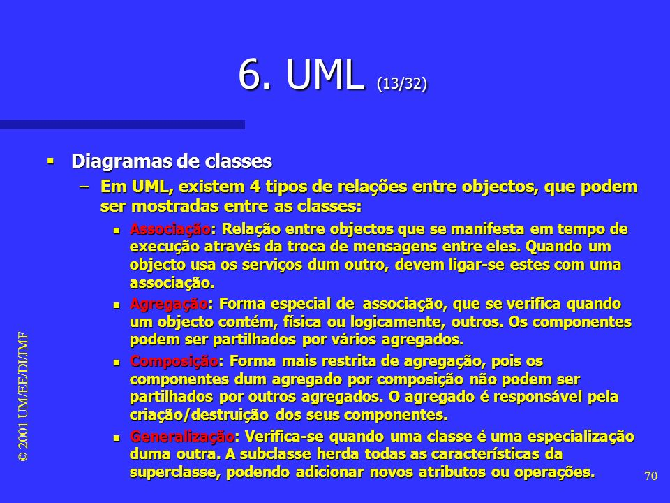 6. UML (13/32) Diagramas de classes
