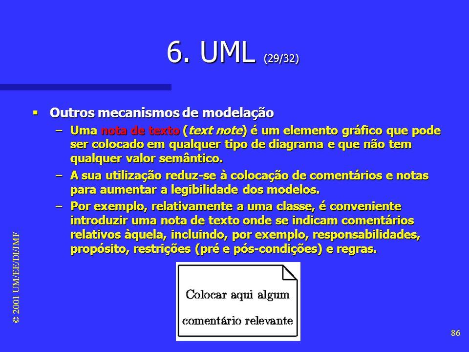 6. UML (29/32) Outros mecanismos de modelação