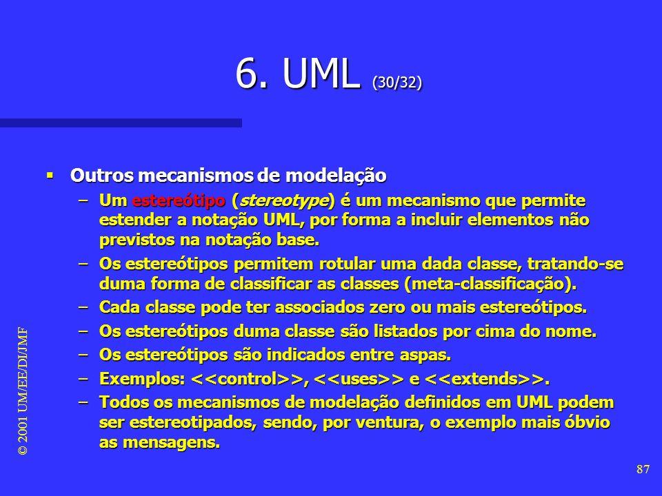 6. UML (30/32) Outros mecanismos de modelação