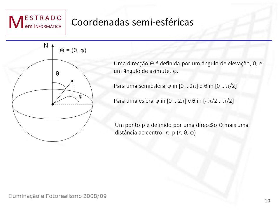 Coordenadas semi-esféricas