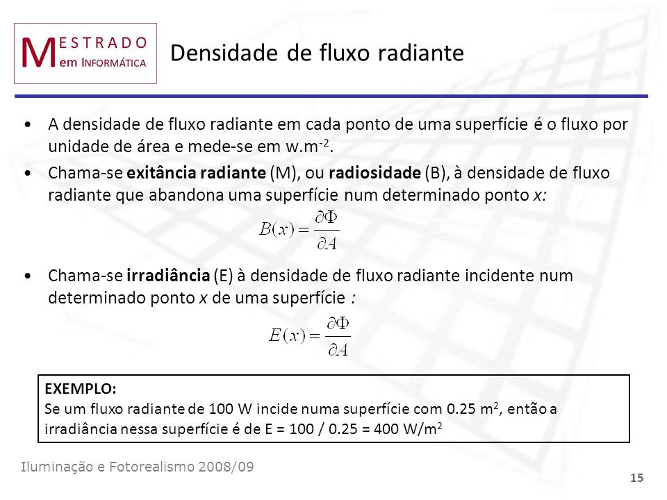 Densidade de fluxo radiante