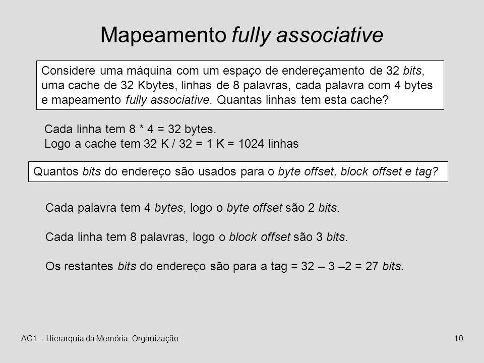 Mapeamento fully associative