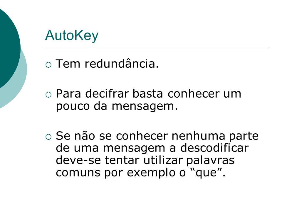 AutoKey Tem redundância.