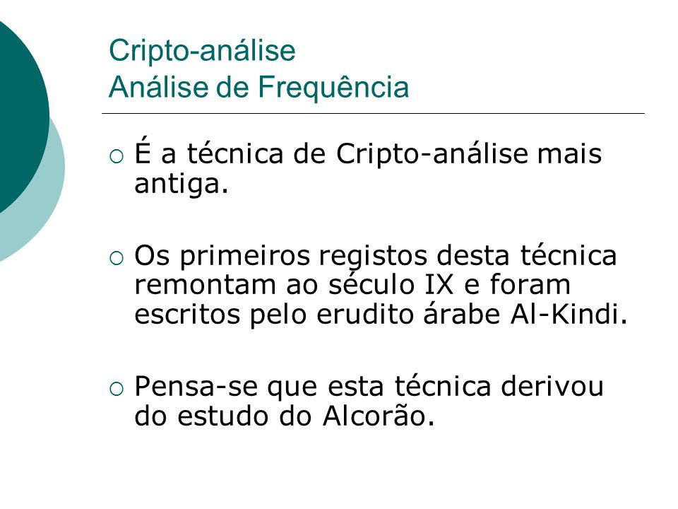 Cripto-análise Análise de Frequência