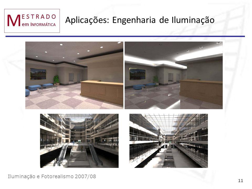 Aplicações: Engenharia de Iluminação