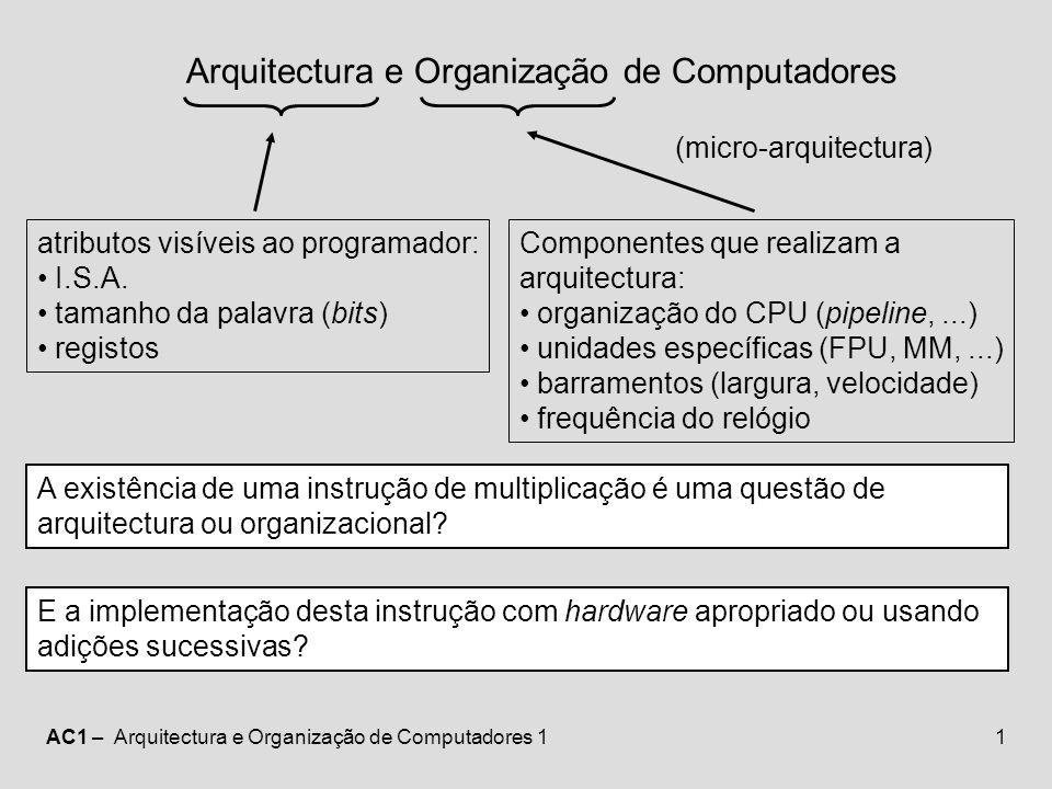 Arquitectura e Organização de Computadores
