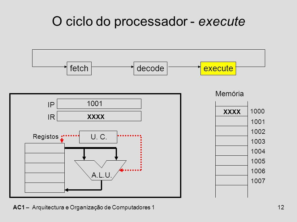 O ciclo do processador - execute