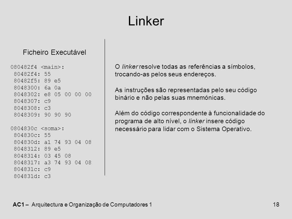 Linker Ficheiro Executável