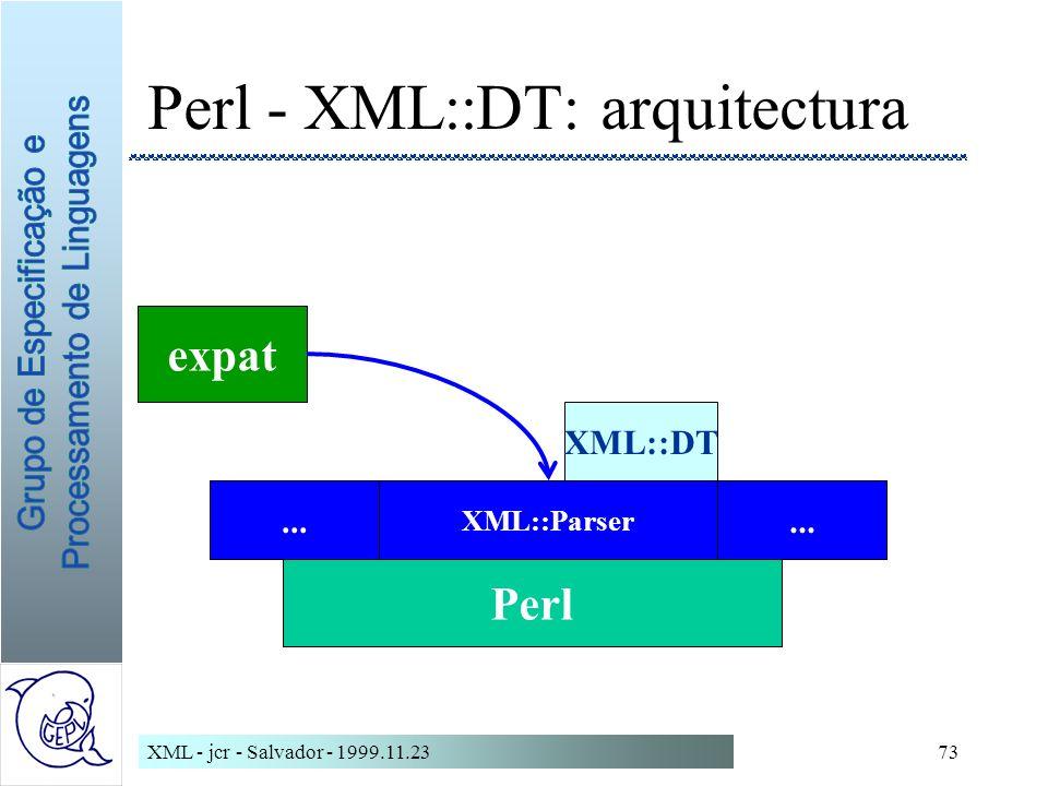 Perl - XML::DT: arquitectura