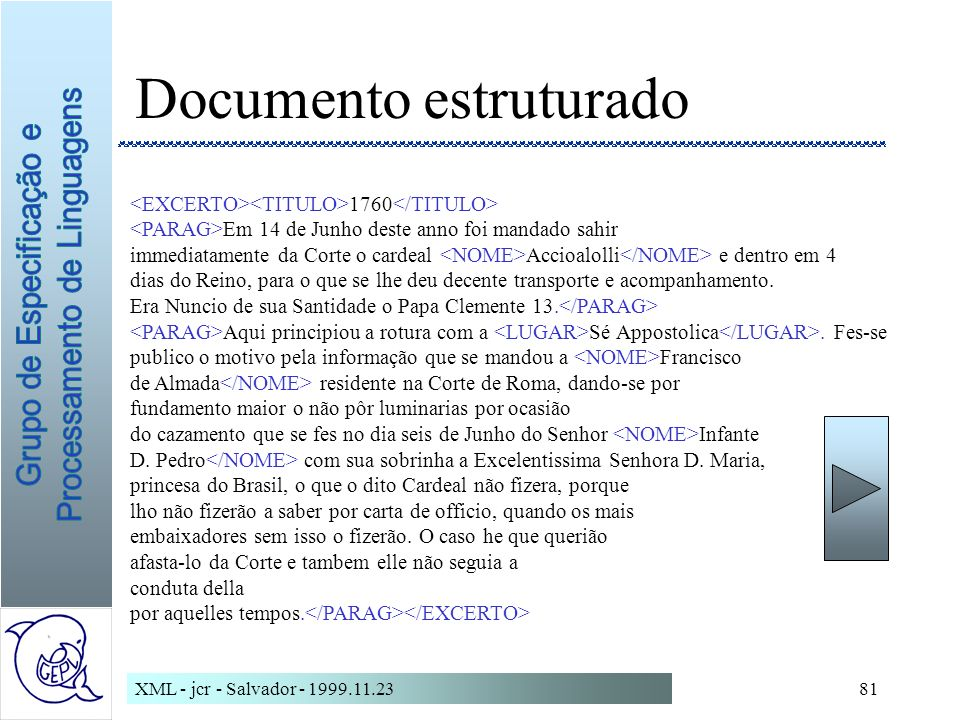 Documento estruturado