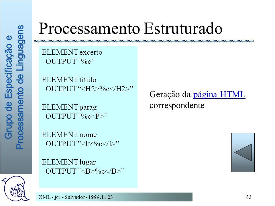 Processamento Estruturado