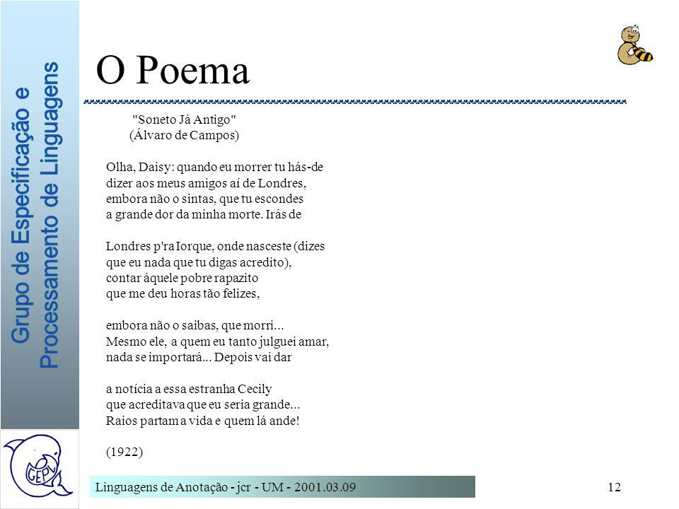 O Poema Soneto Já Antigo (Álvaro de Campos)