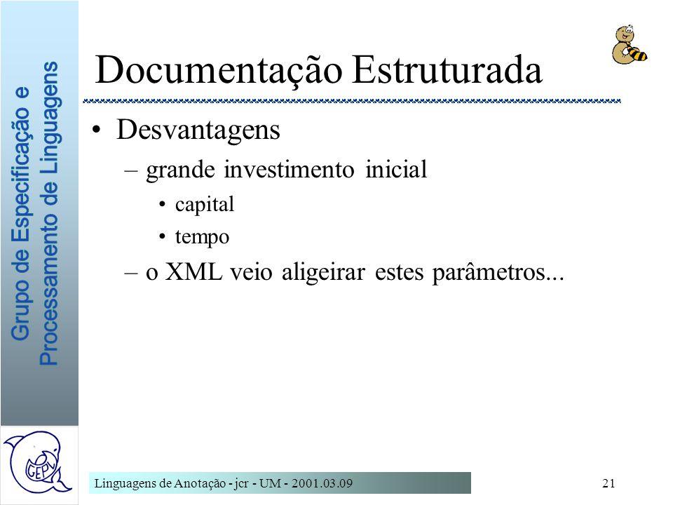 Documentação Estruturada