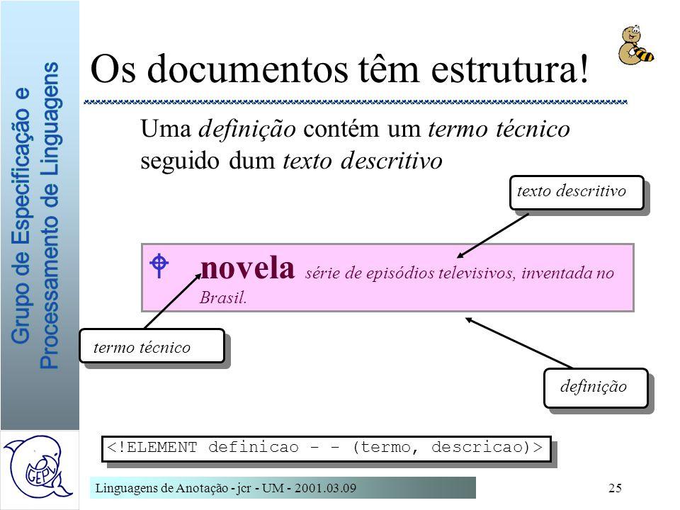 Os documentos têm estrutura!