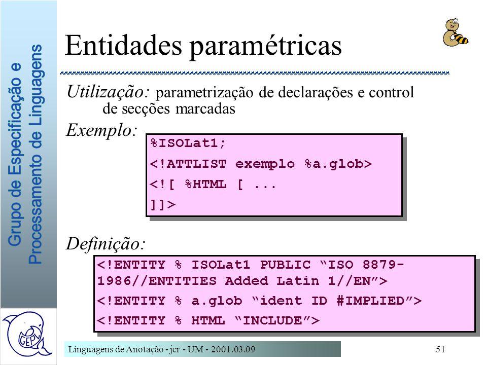 Entidades paramétricas