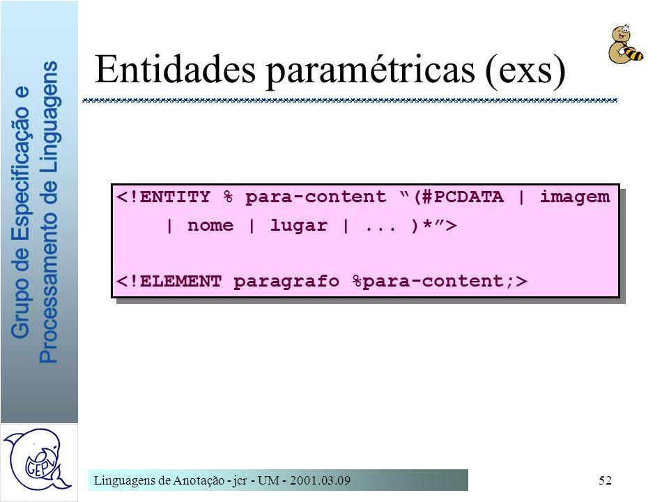 Entidades paramétricas (exs)